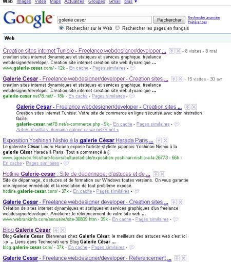 Galerie césar sur google