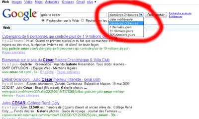 astuces recherche par date sur google