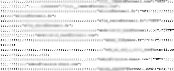 Exemple de fichier de contact hotmail