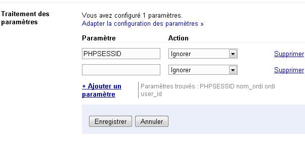 paramètres google webmaster tools