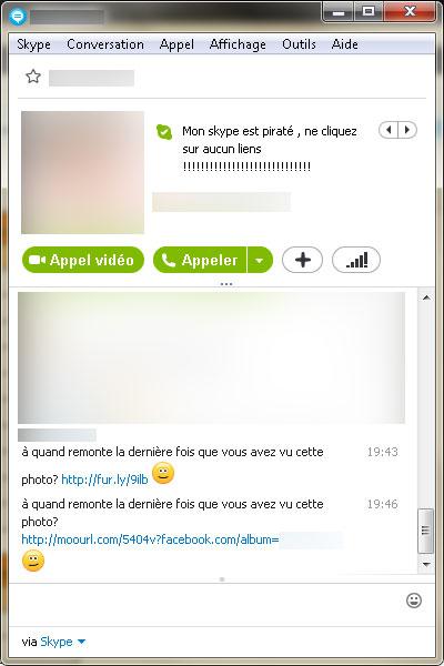Problème virus sur Skype